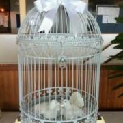 Large White Dome Birdcage