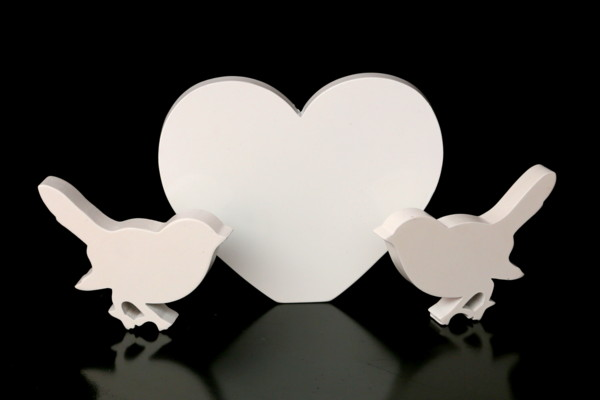 Doves & Love Heart - Gift Table Decoration