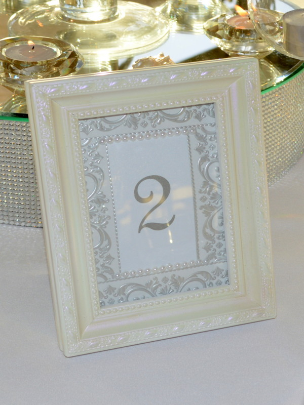 Pearlised Table Numbers